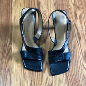 Black Nine West Heel Sandals